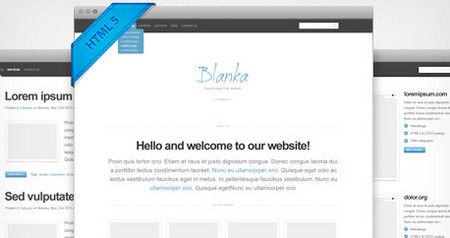 Blanka website template