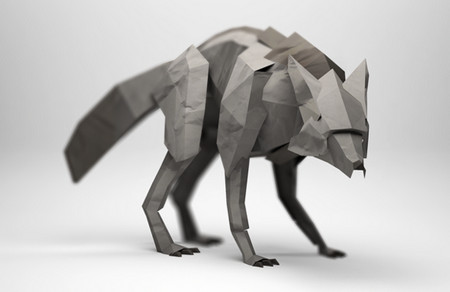 3D Origami Illustrations of Wild Animals