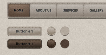 UI Leather Web Elements Pack 2