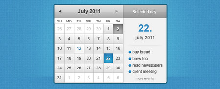 Calendar Widget 