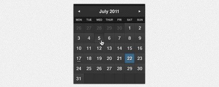 Dark Formal Calendar