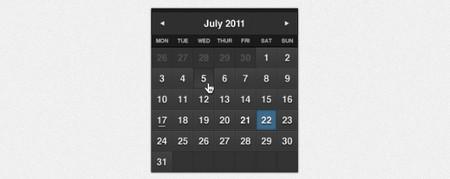 Dark Formal Calendar