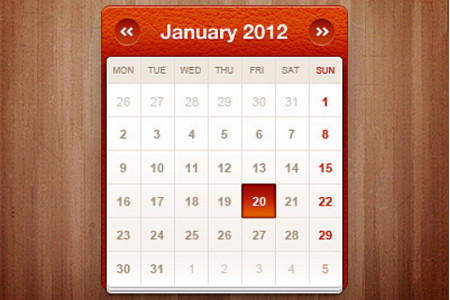 Little calendar widget