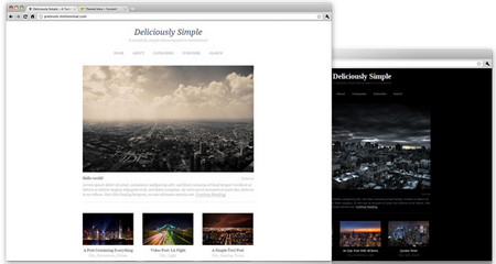 Mmminimal wordpress theme
