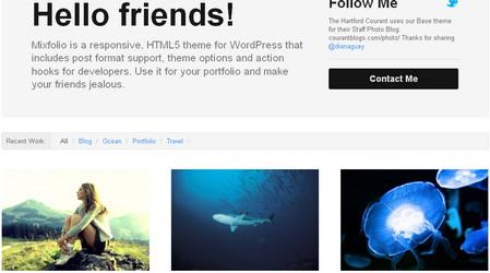 Mixfolio is a responsive, HTML5 portfolio theme