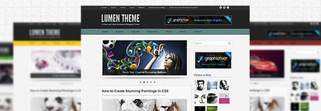 Lumen is a clean and slick WordPress theme suitable for any blog