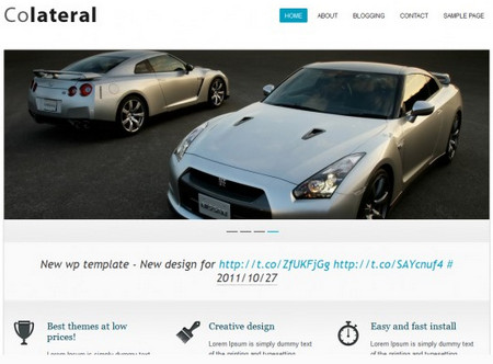 Colateral is a very elegant wordpress theme