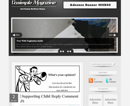 Vasimple – Magazine WordPress Theme