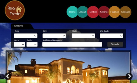 Web Template for a Real Estate Website