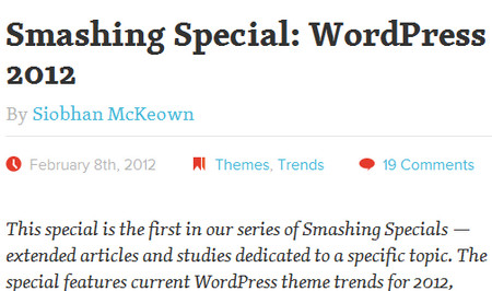 Smashing Special: WordPress Theme Trends For 2012