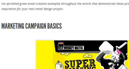 KEYS TO EMAIL CREATIVE SUCCESS: MARKETING AND DESIGN