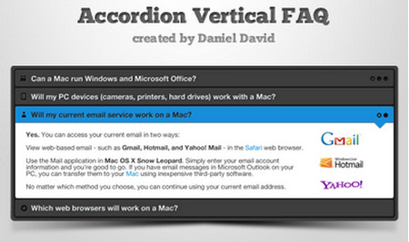 Accordion Vertical FAQ