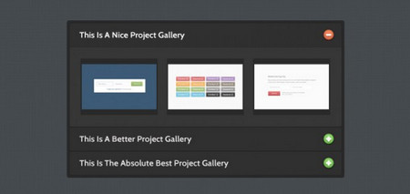 Silky Charcoal jQuery Gallery Accordion