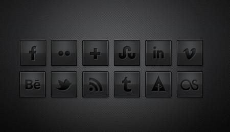 Dark Social Media Icons