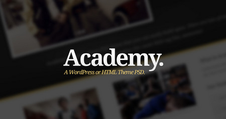 Academy: A Free WordPress or HTML PSD