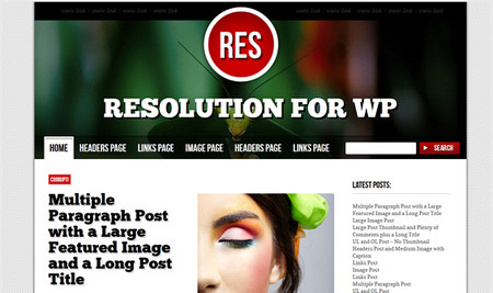 Resolution Theme for WordPress