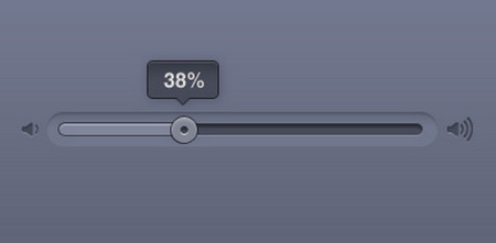 Volume slider