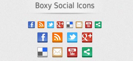 Boxy Social Icons