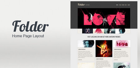 Folder Home Page Layout