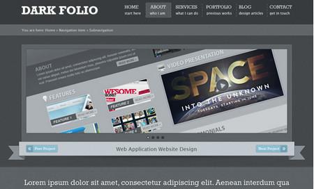 Dark Portfolio Web Design w/ tut