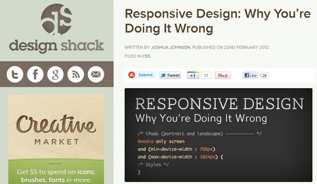 Responsive Design: Why You're Doing It Wrong