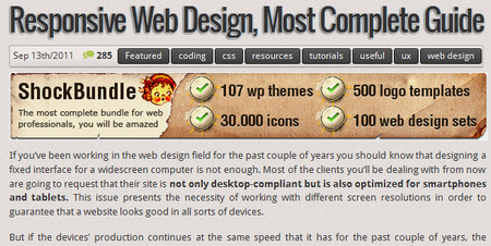 Responsive Web Design, most complete guide