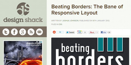 Beating Borders: The Bane of Responsive Layout