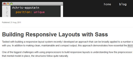 Building Responsive Layouts with Sass 