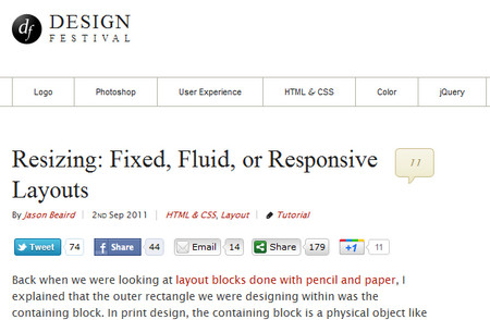 Resizing: Fixed, Fluid, or Responsive Layouts