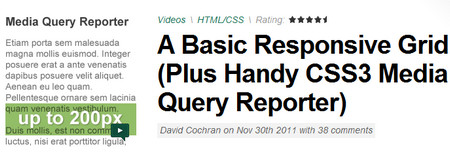 A Basic Responsive Grid (Plus Handy CSS3 Media Query Reporter)