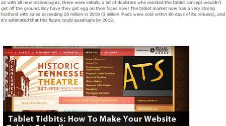 Tablet Tidbits: How To Make Your Website Tablet-Friendly