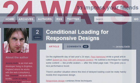 Conditional Loading for Responsive Designs