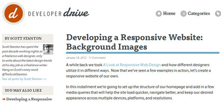 Developing a Responsive Website: Background Images