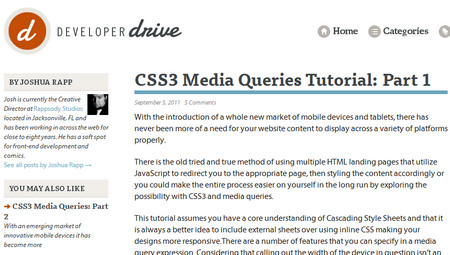 CSS3 Media Queries Tutorial: Part 1