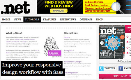 Improve your responsive design workflow with Sass