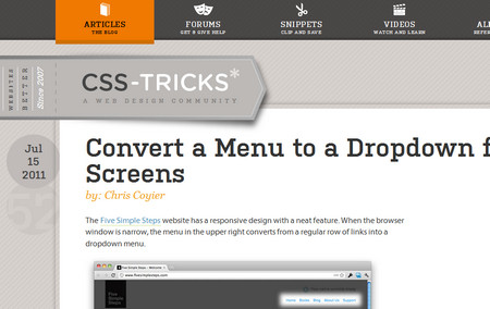 Convert a Menu to a Dropdown for Small Screens