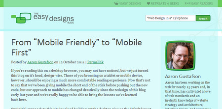"From ""Mobile Friendly"" to ""Mobile First"""