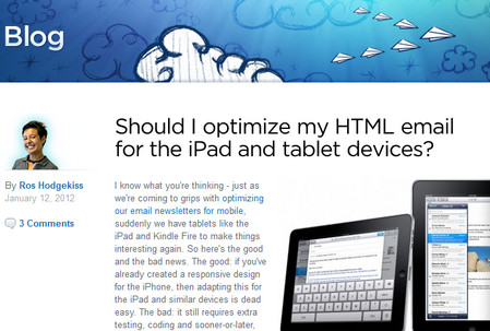 Should I optimize my html email for the ipad and tablet devices