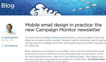 Mobile email design in practice