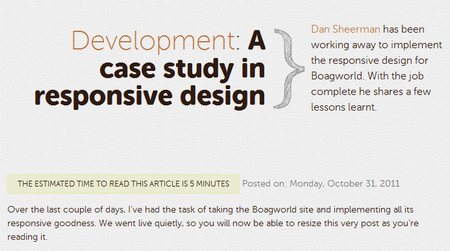 A case study in responsive design