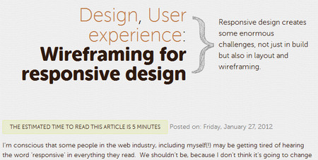Wireframing for responsive design