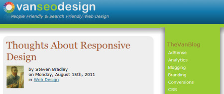 Thoughts About Responsive Design