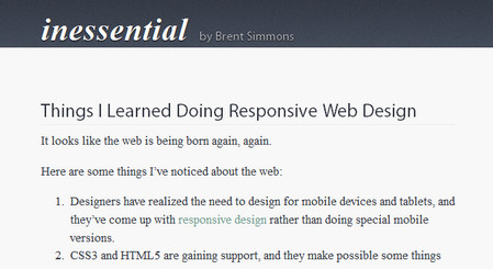 Things I Learned Doing Responsive Web Design
