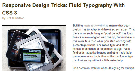 Responsive Design Tricks: Fluid Typography With CSS 3