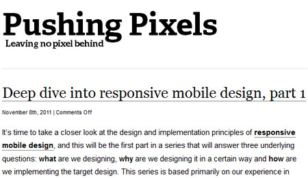 Deep dive into responsive mobile design, part 1
