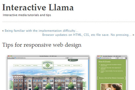Tips for responsive web design