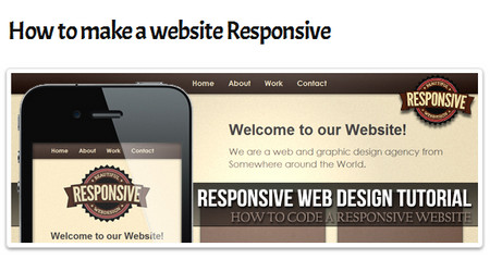 How to make a website Responsive