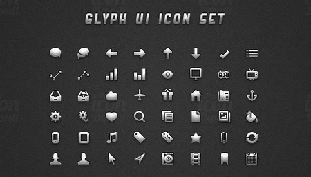 Glyph UI Icon Set
