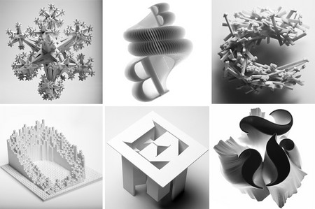 3D alphabet shows the history of type
