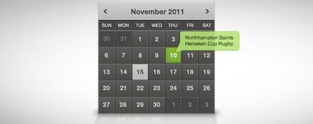 Clean Dark Calendar Widget